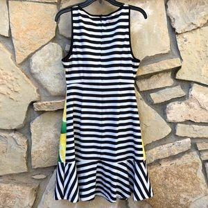 Elle Dresses - Elle Lemon & Lime Black White Striped Dress